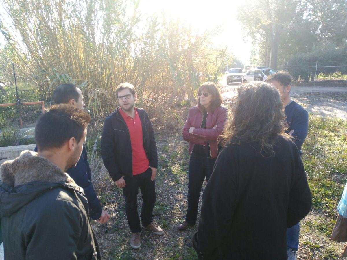 Fernando Miñana y Maru Carbonell visitan las zonas inundables de la Huerta de Molina de Segura